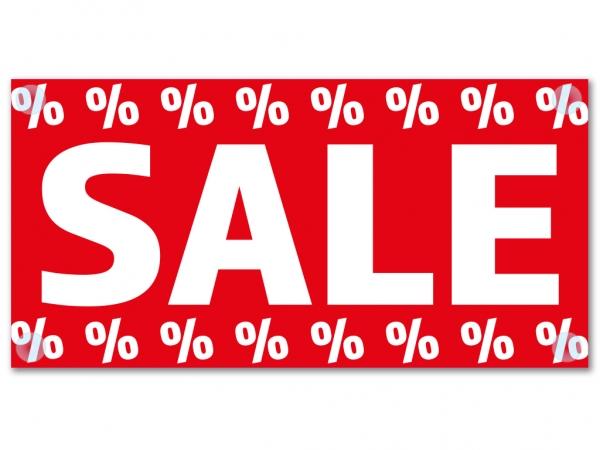 PVC-Banner SALE Werbebanner mit Saugnäpfe zur Mehrfachnutzung