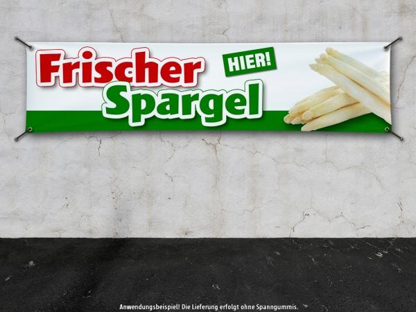 PVC-Banner FRISCHER SPARGEL Spargelernte Werbebanner