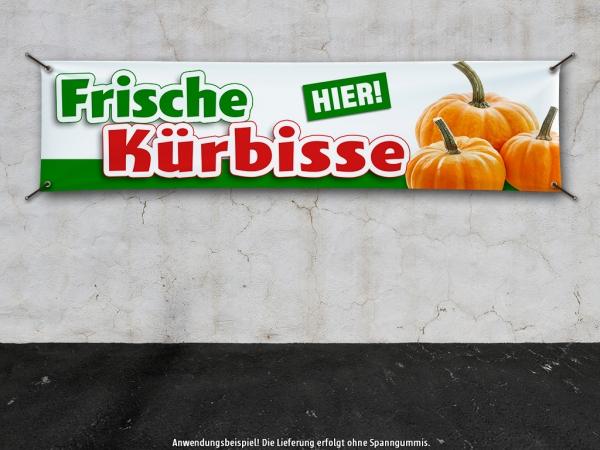 PVC-Banner FRISCHE KÜRBISSE HIER Werbung