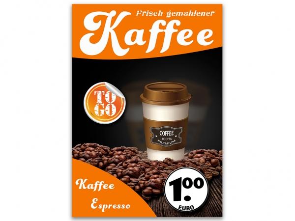 Plakat KAFFEE TO GO Werbung verschiedene Din-Formate