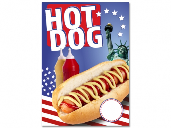 Plakat HOTDOG - HOT DOG V1 USA NEW YORK Werbung verschiedene Din-Formate