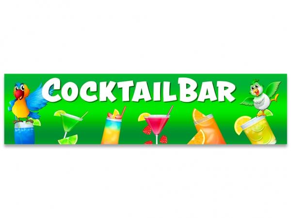 Aufkleber COCKTAILBAR Cocktails grüner Hintergrund mit Papageien
