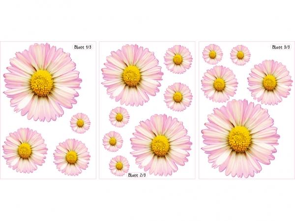 16 Stück Aufkleber MARGERITEN Blumen Tuning Auto Aufkleber PKW Sticker