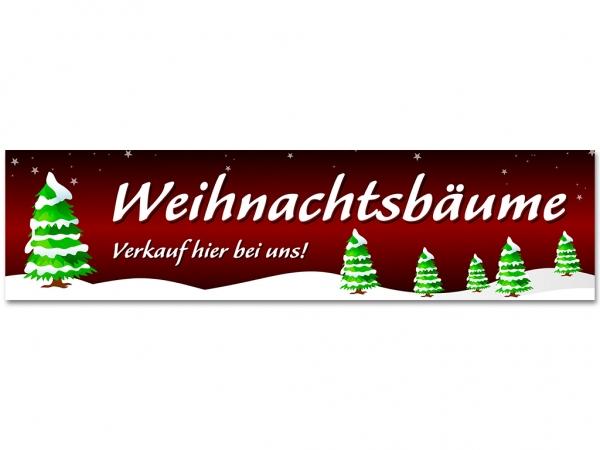 Aufkleber WEIHNACHTSBÄUME VERKAUF - Christmas - Xmas - Schnee - V2R