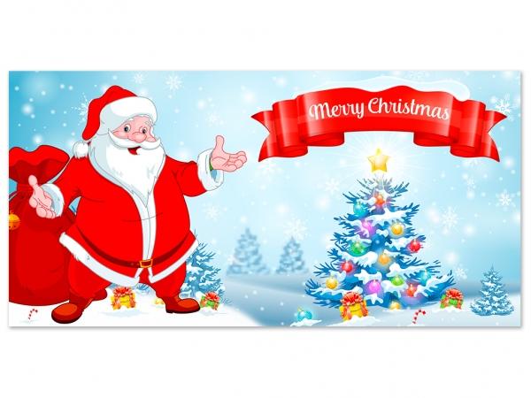 Aufkleber MERRY CHRISTMAS Weihnachten - Xmas - Schnee - Weihnachtsmann - V01