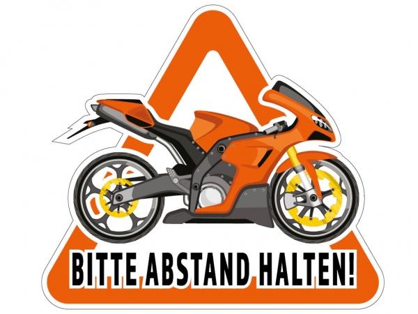 Aufkleber BITTE ABSTAND HALTEN! für Pkw, Motorradanhänger, Transporter 32 x 28,5cm