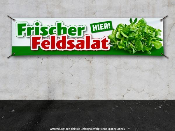 PVC-Banner FRISCHER FELDSALAT - HIER! Werbung