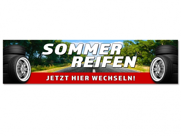 Aufkleber REIFENSERVICE SOMMERREIFEN - JETZT HIER WECHSELN