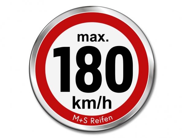 12 Stück Geschwindigkeitsaufkleber für M+S WINTERREIFEN - max. 180 km/h - Ø 30 mm