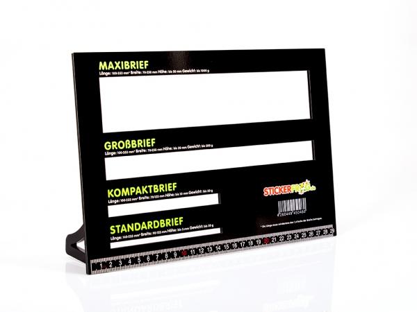 POSTSCHABLONE , Formatschablone, Briefschablone, Portoschablone Plexiglas® schwarz