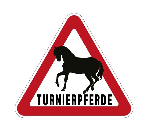 Aufkleber TURNIERPFERDE für Pkw, Pferdeanhänger, Transporter 32 x 28,5 cm