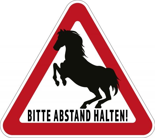 Aufkleber BITTE ABSTAND HALTEN! für Pkw, Pferdeanhänger, Transporter 32 x 28,5cm