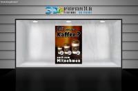 Plakat ZEIT FÜR EINEN KAFFEE? Werbung verschiedene Din-Formate