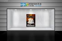 Aufkleber HEIßER KAFFEE? Werbung verschiedene Din-Formate