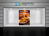 Aufkleber FRISCH GEBRATENE CURRYWURST Werbung verschiedene Din-Formate