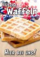 Plakat FRISCHE WAFFELN - HIER Werbung verschiedene Din-Formate