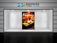 Plakat KNUSPRIGE POMMES Werbung verschiedene Din-Formate