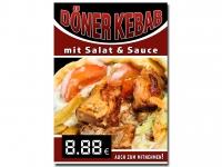 Plakat DÖNER KEBAB MIT SALAT Werbung verschiedene Din-Formate