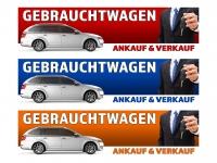 PVC-Banner GEBRAUCHTWAGEN KFZ Auto AN/VERKAUF