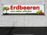 PVC-Banner ERDBEEREN SELBER PFLÜCKEN Werbung Feld