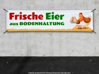 PVC-Banner FRISCHE EIER AUS BODENHALTUNG