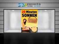 Aufkleber 20 MINUTEN SONNEN Sonnenstudio / Solarium - Din-Formate