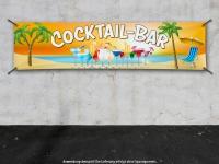 PVC-Banner COCKTAIL-BAR Beach Cocktails Strand Meer