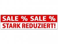 Aufkleber SALE STARK REDUZIERT Prozente rot/weiss