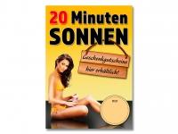 Plakat 20 MINUTEN SONNEN Sonnenstudio / Solarium - Din-Formate