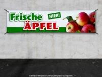 PVC-Banner FRISCHE ÄPFEL HIER Werbung