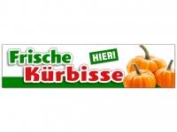 Aufkleber FRISCHE KÜRBISSE HIER Werbung