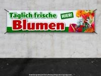 PVC-Banner TÄGLICH FRISCHE BLUMEN - HIER! Werbung Floristik