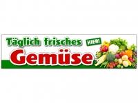 Aufkleber TÄGLICH FRISCHES GEMÜSE - HIER! Werbung