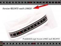 MAßBAND selbstklebend für Arbeitstisch, Bandmaß, Metermaß 100 cm gut ablesbar! RECHTS -> LINKS
