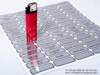 70 Stück glänzend silber GEWÜRZETIKETTEN, Aufkleber, Etiketten, Gewürze, Chrome-Effekt