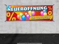 PVC-Banner NEUERÖFFNUNG inkl. Wunschdatum Spanntransparent