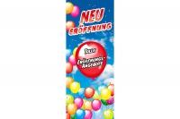 Aufkleber Schaufenster NEUERÖFFNUNG mit Konfetti und Luftballons 60 x 150 cm