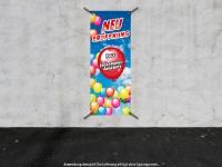 PVC-Banner NEUERÖFFNUNG mit Konfetti und Luftballons 60 x 150 cm