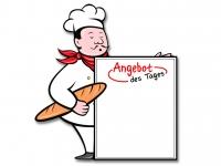 5 x Bäckerei Thekenaufsteller ANGEBOT DES TAGES aus Plexiglas® klein