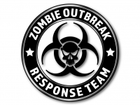 2 Autoaufkleber ZOMBIE OUTBREAK RESPONSE TEAM Sticker Shocker Decal Horror 60 cm
