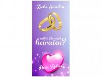 PVC-Banner HEIRATSANTRAG - WILLST DU MICH HEIRATEN? Hochzeitsbanner mit Namen