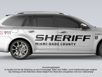 Autoaufkleber Set SHERIFF US COP Sticker Shocker Car Decal Folie beidseitig