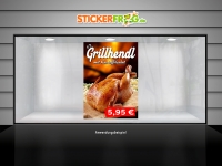 Plakat GRILLHENDL MIT KARTOFFELSALAT Werbung verschiedene Din-Formate