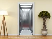 Türtapete Türposter FAHRSTUHL - AUFZUG - ELEVATOR selbstklebend 205 x 88 cm