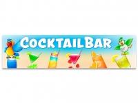 Aufkleber COCKTAILBAR Cocktails FARBENFROH mit Papageien