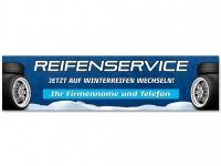 Aufkleber REIFENSERVICE WINTERREIFEN - Schneedesign inkl. Wunschtext Aufdruck