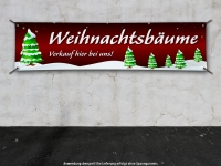 PVC-Banner WEIHNACHTSBÄUME VERKAUF Spanntransparent - Christmas - Xmas - Schnee - V2R