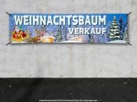 PVC-Banner WEIHNACHTSBAUM VERKAUF Spanntransparent - Christmas - Xmas - Schnee - V01