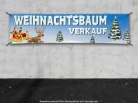 PVC-Banner WEIHNACHTSBAUM VERKAUF Spanntransparent - Christmas - Xmas - Schnee - V02