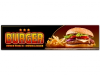 Aufkleber - BURGER Werbung Spanntransparent Hamburger Pommes 3StarBG
